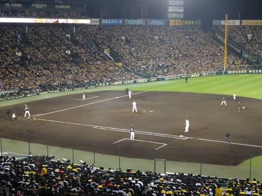 甲子園球場アイビシート(内野上段指定席)からの眺め